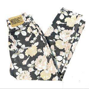 Vintage Ultra High Rise Floral Bongo Mom Jeans
